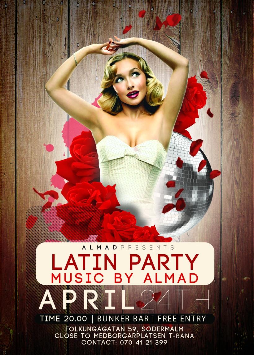Latin Party @ Bunker Bar, Stockholm 24th April