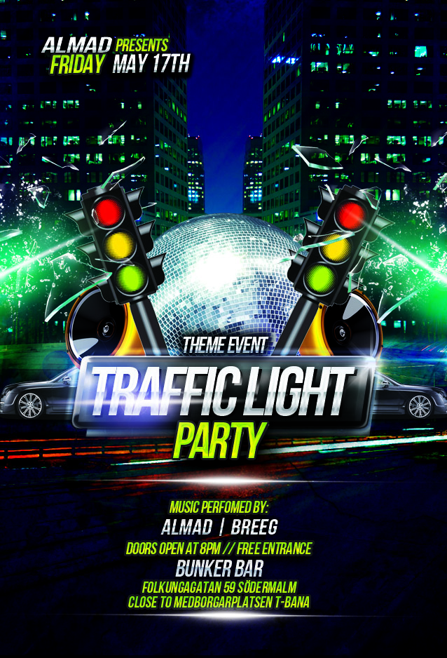 TRAFFIC LIGHT PARTY 17TH MAY!